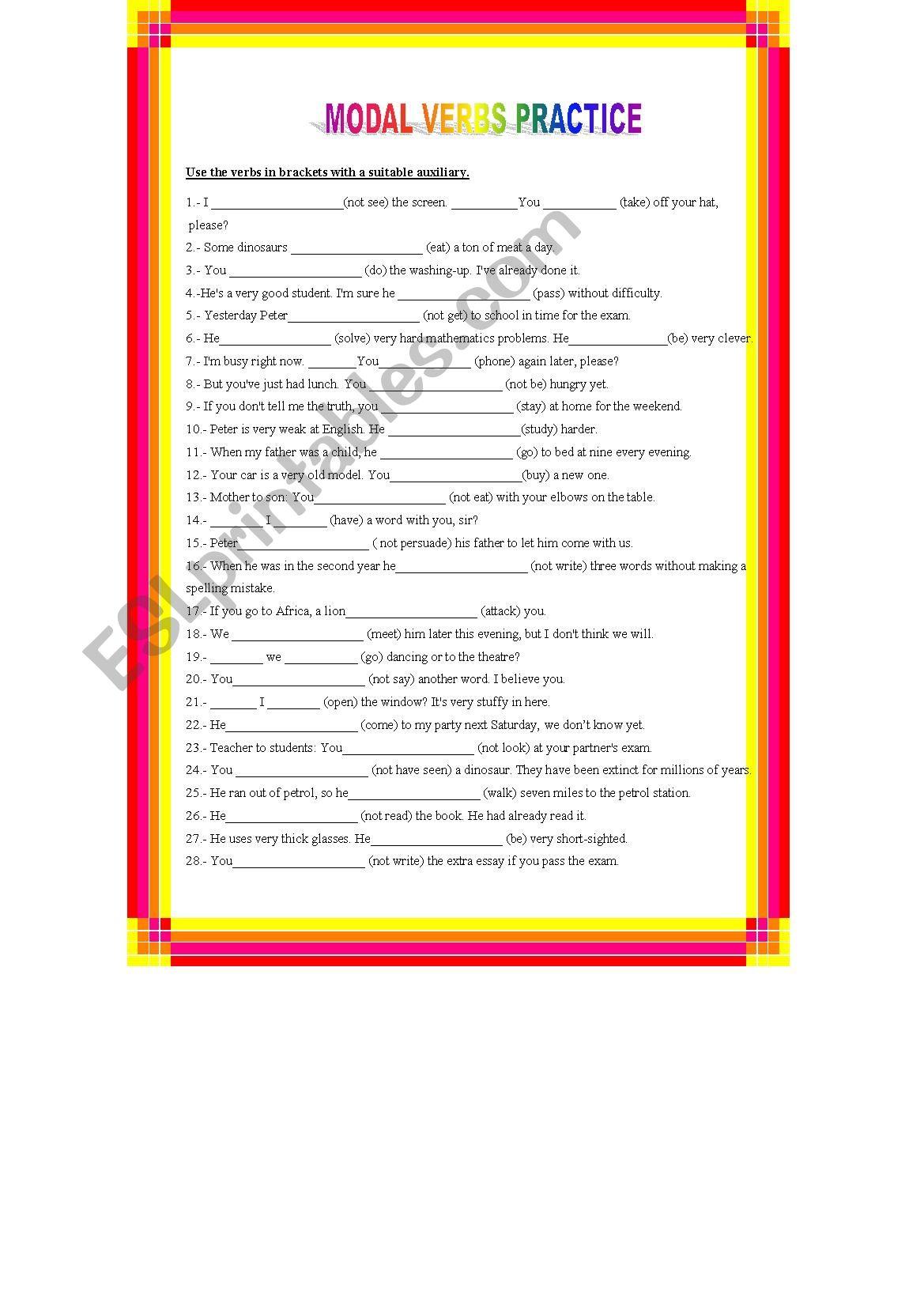 Modal Verbs Revision