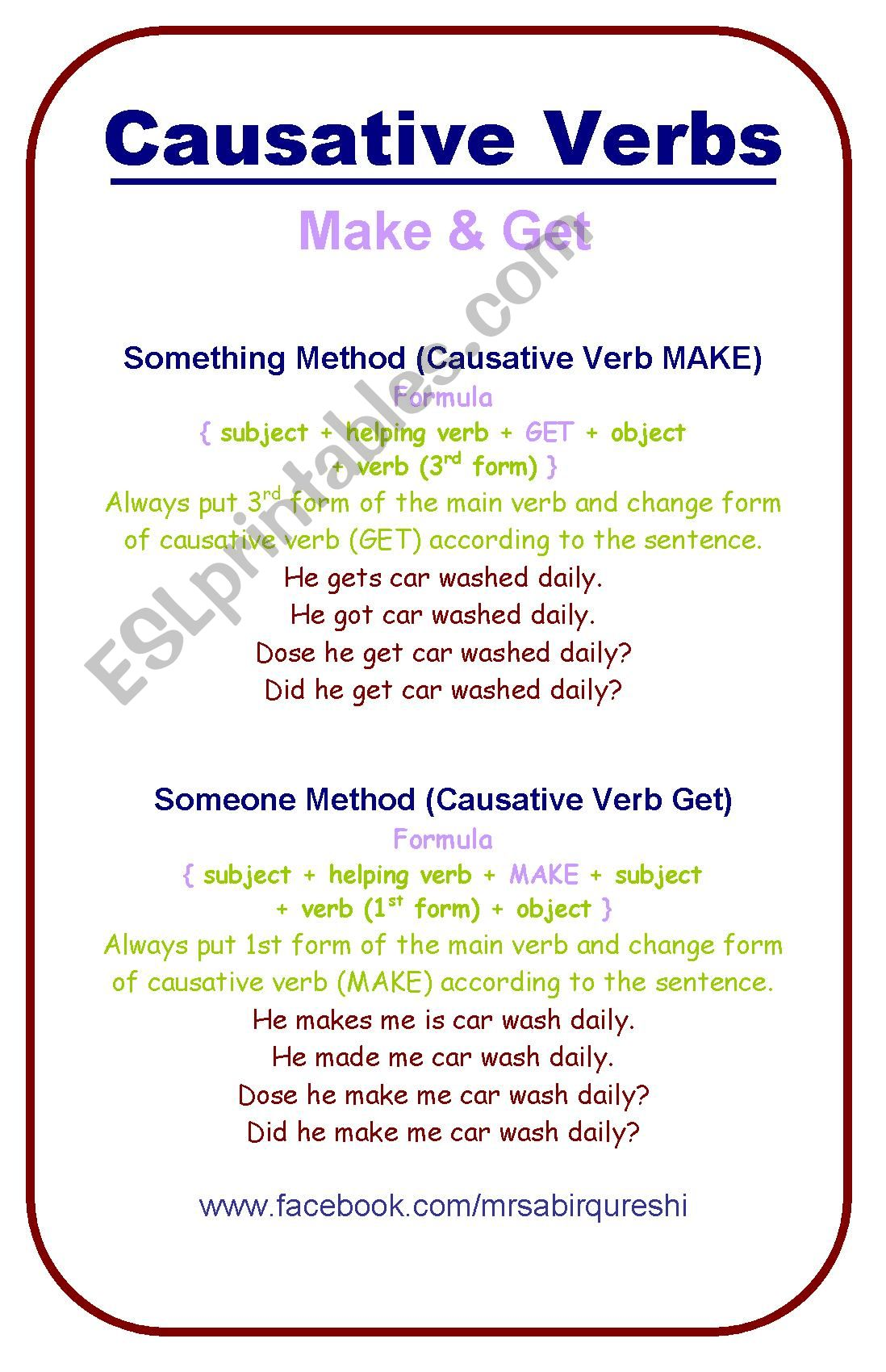 Causative Verb Make Amp Get