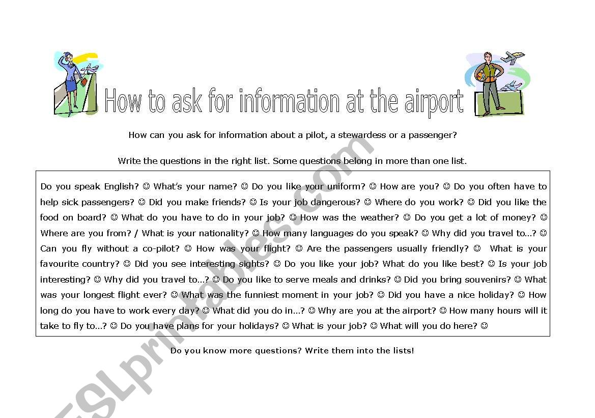 Asking Questions At The Airport