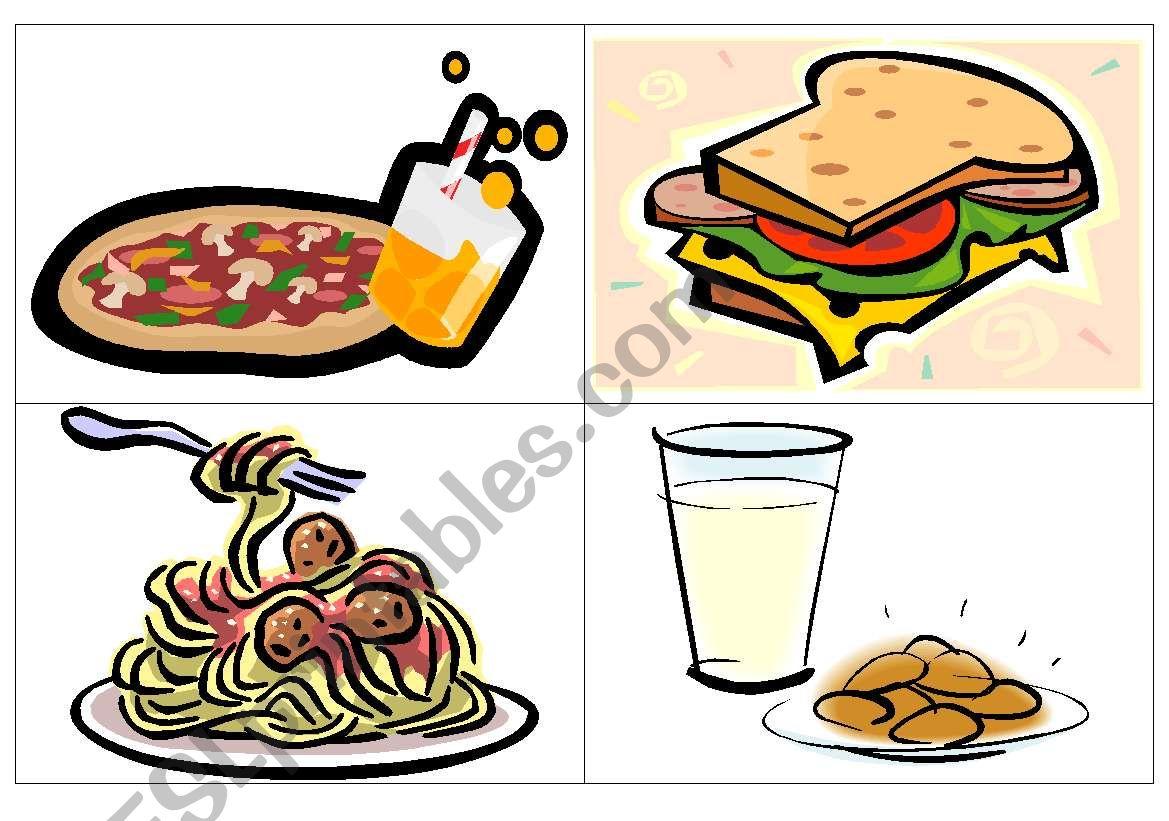Dinner Flash Cards
