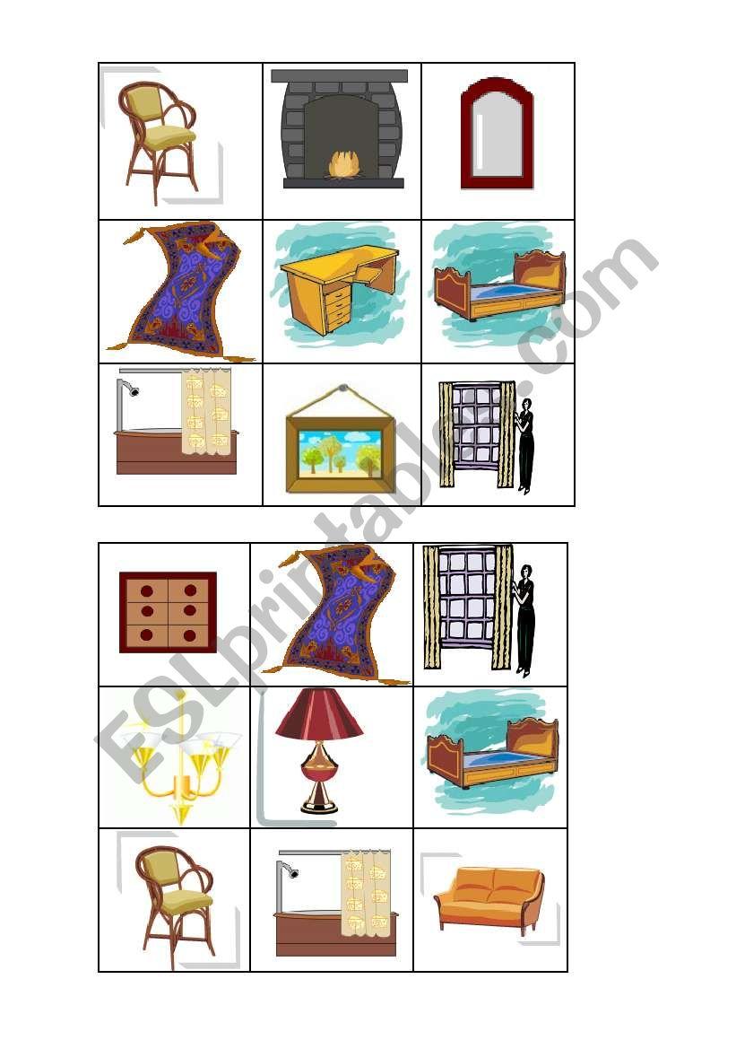 Furniture Bingo