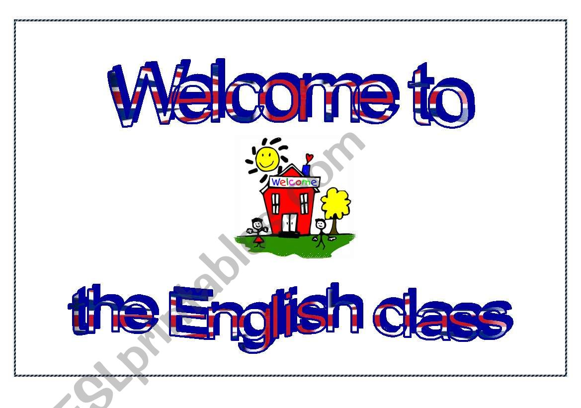 Welcome To The English Class