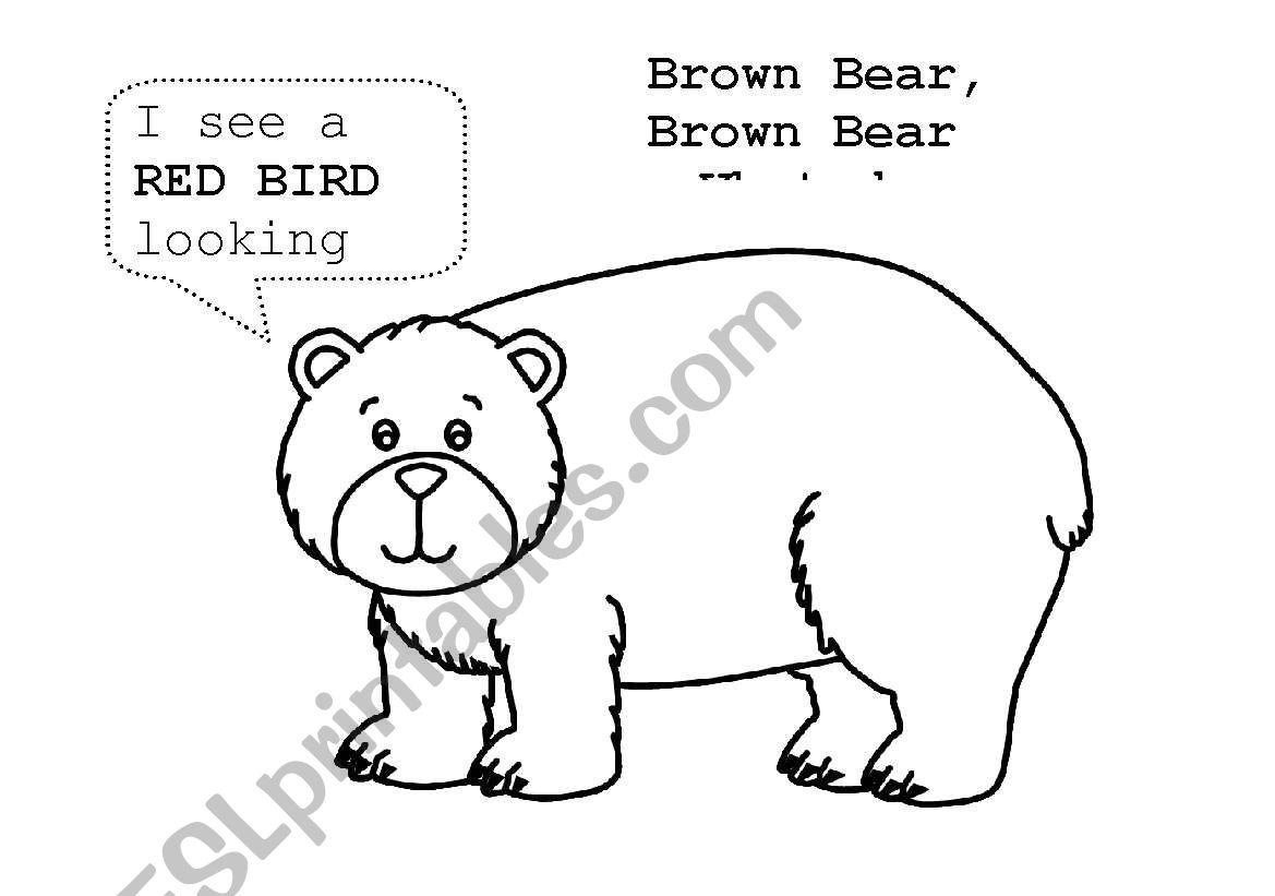 English Worksheets Brown Bear Activity