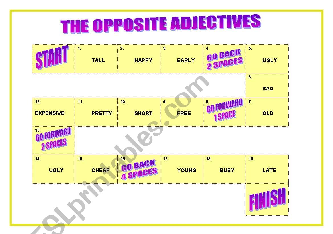 The Opposite Adjectives Game