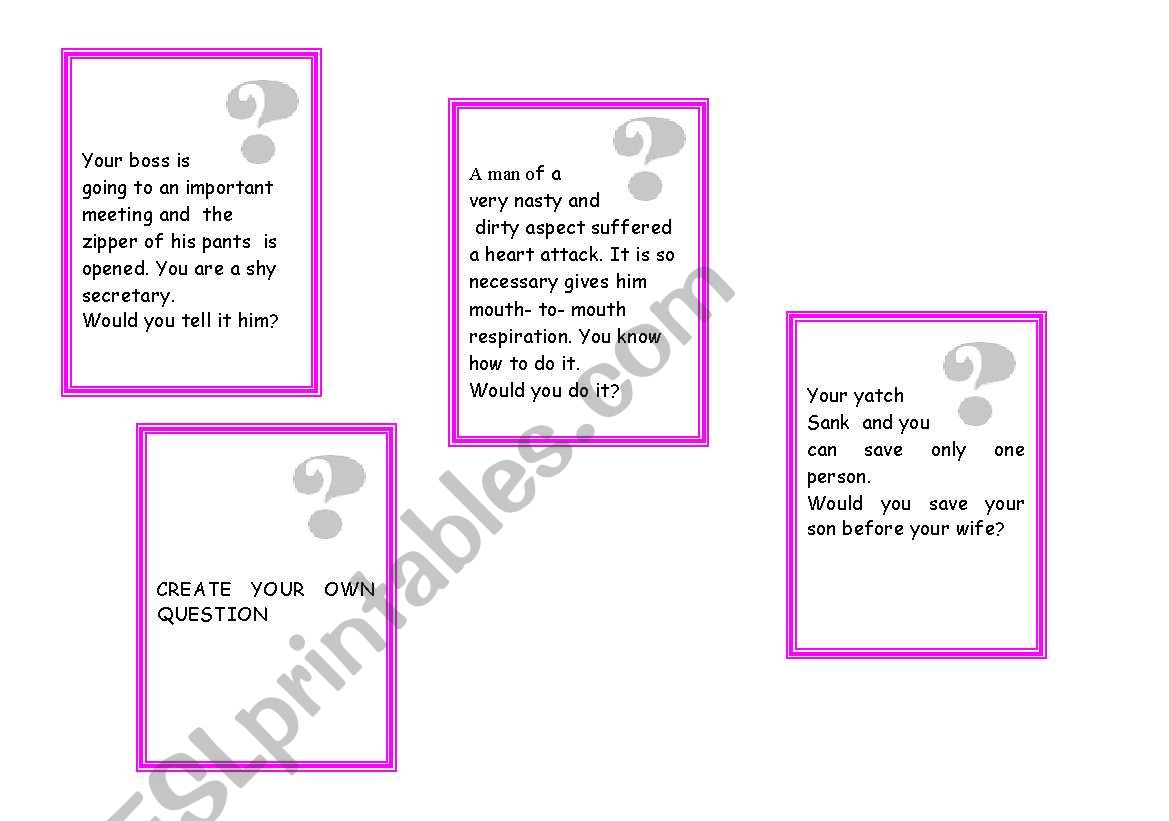 Printable Scruples Game Tutore