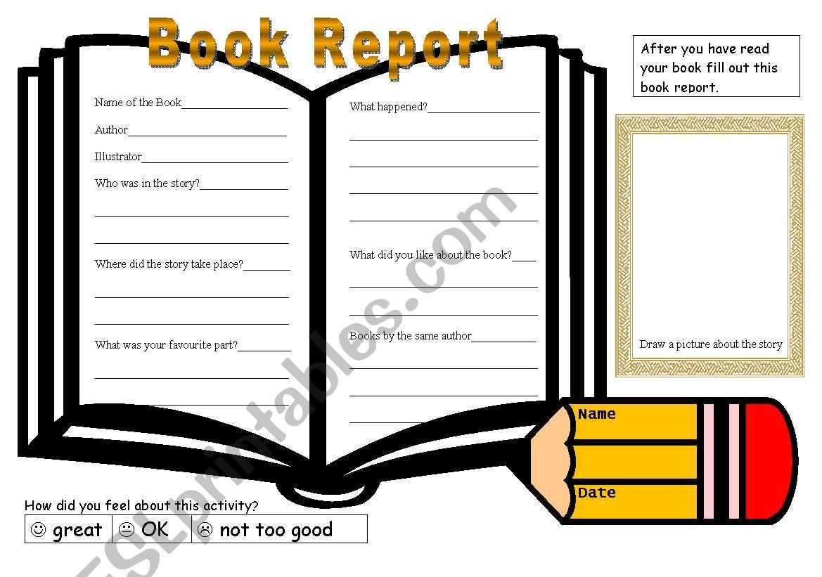 Book Report Template 2