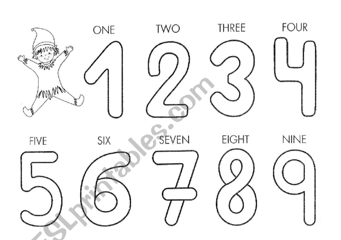 Numbers 1 To 9