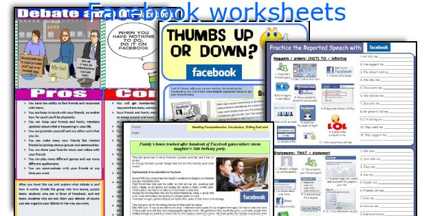 Facebook Worksheets