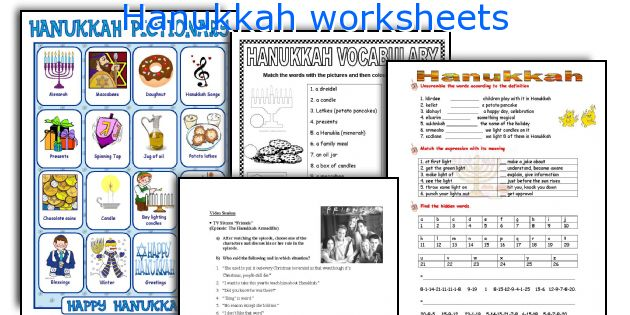 English Teaching Worksheets Hanukkah
