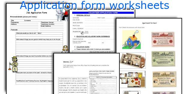 English Teaching Worksheets Application Form