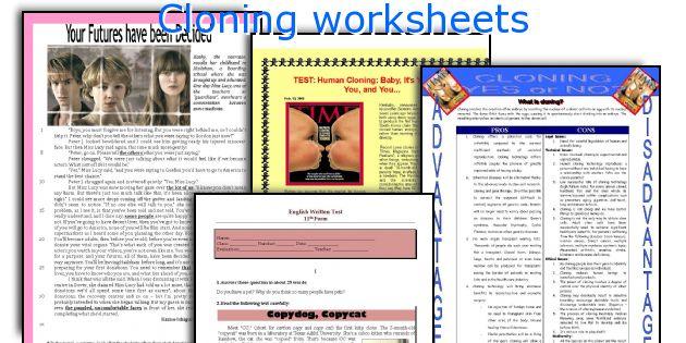 Cloning Worksheets