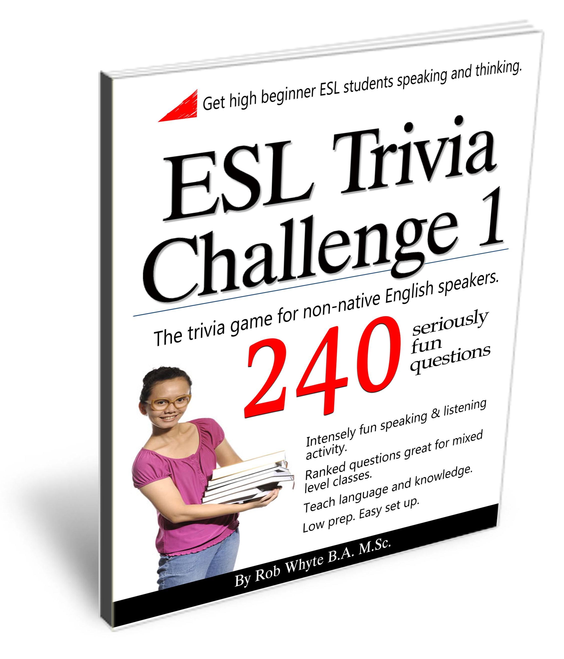 Esl Trivia Game Volume 1