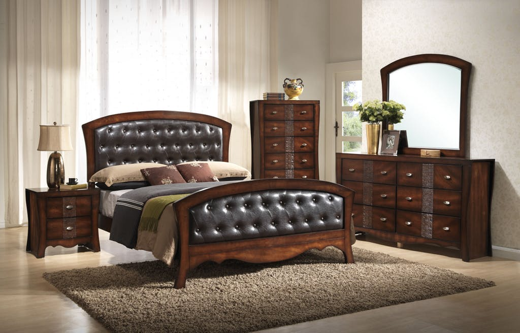 leather bedroom suite by elements furniture