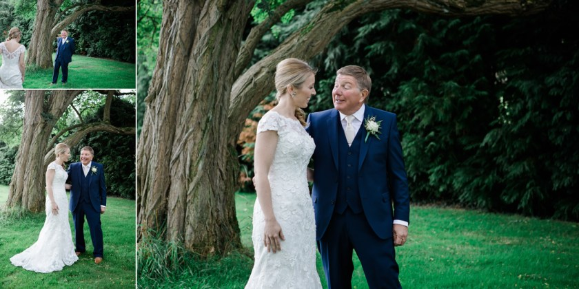 father of the bride first look stratford upon avon rustic country wedding