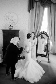 getting on the dress wedding morning coombe abbey vintage relaxed glamour