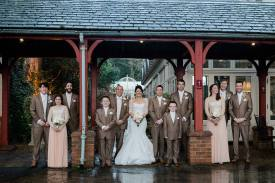 bridal party at coombe abbey vintage glamour