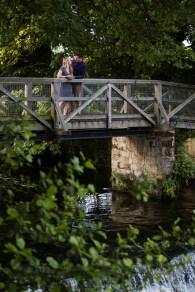 couple on bride rustic natural saxon mill warwickshire pre wedding