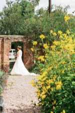 english garden wedding theme bride portrait