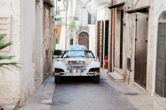 Wedding Car arrives South Italian Wedding