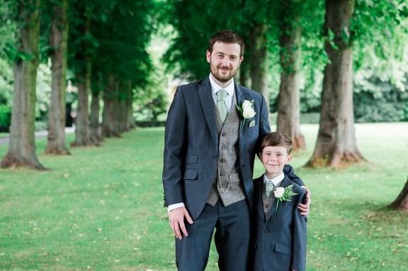 Groom and Son Before Wedding Portrait