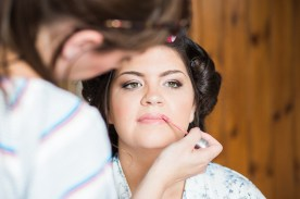 Bride Getting REady for ceremony at hotel