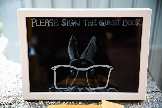 Rabbit Theme Sign