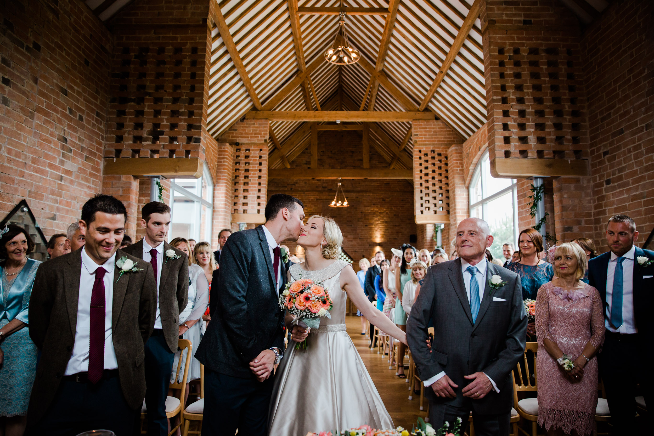 wedding ceremony swallows nest barn warwickshire