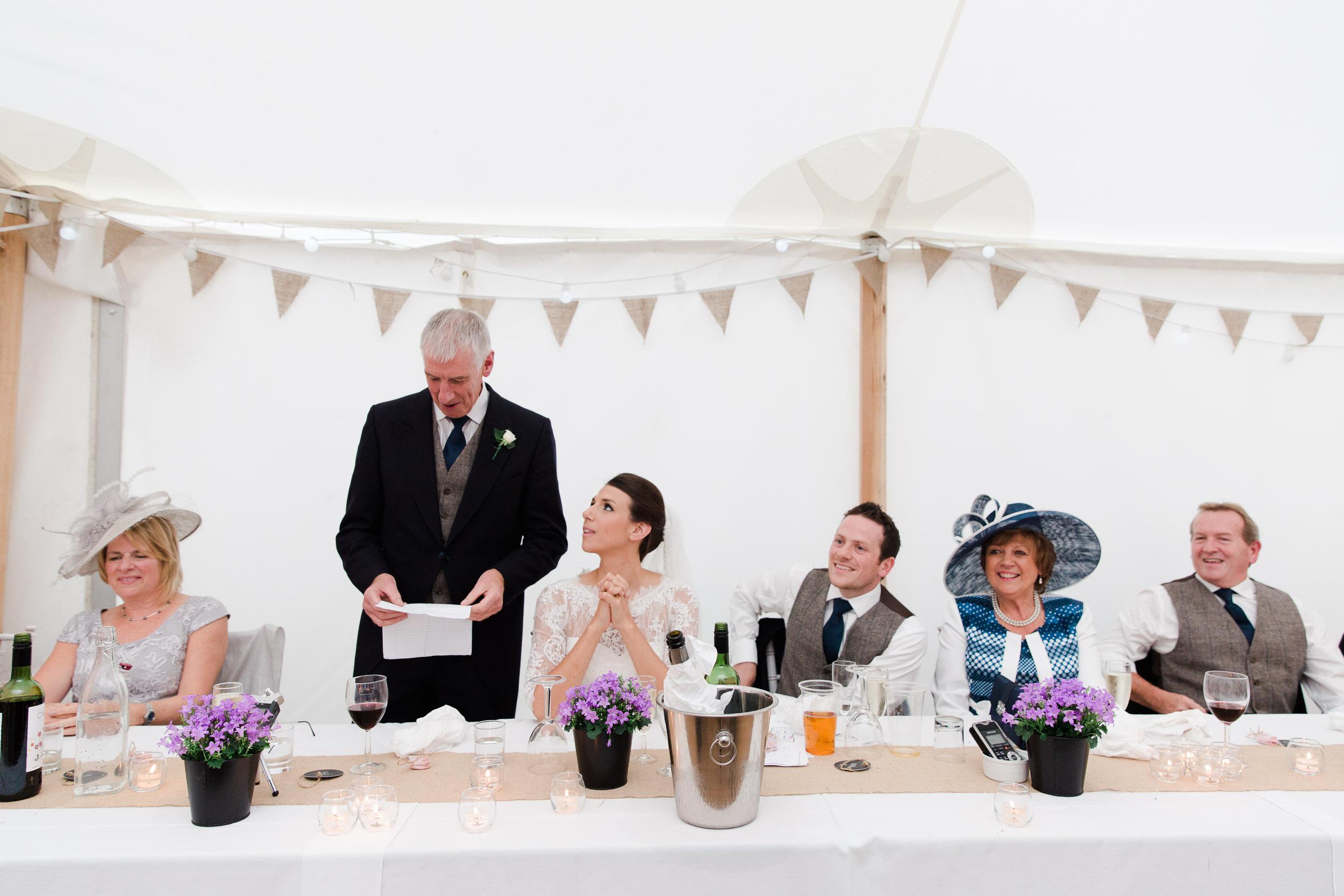 speeches home farm wedding venue marquee