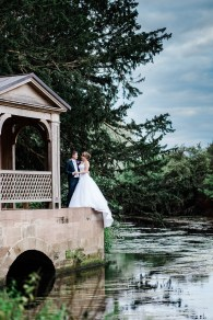 bride and groom formal portrait Stoneleigh Abbey Wedding Photography