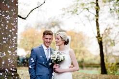 confetti autumn wedding in warwickshire