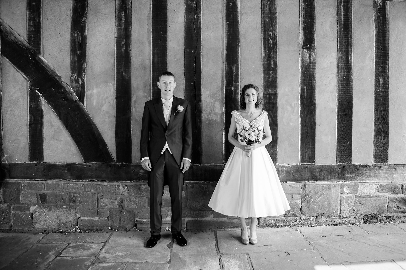 Bride and Groom Quirky Portrait Black Prince Coventry Registry Office