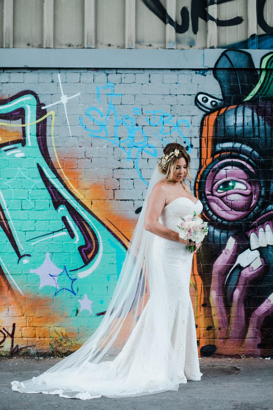 Glamorous Alternative Wedding at Fazeley Studios063