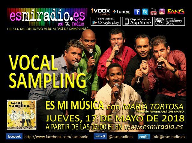 Vocal Sampling elJueves, 17 de Mayo de 2018 en esmiradio.es