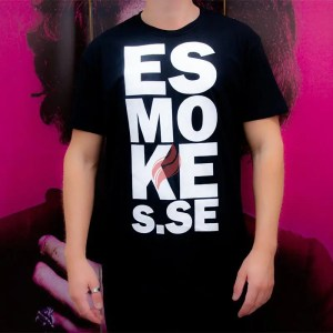 Svart t-shirt från eSmokes