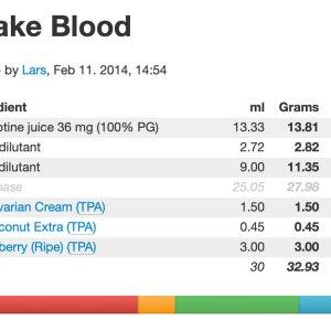 Recept för Snake Blood E-juice