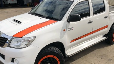 Toyota Hilux Custom TRD Bright Orange Stripe Kit