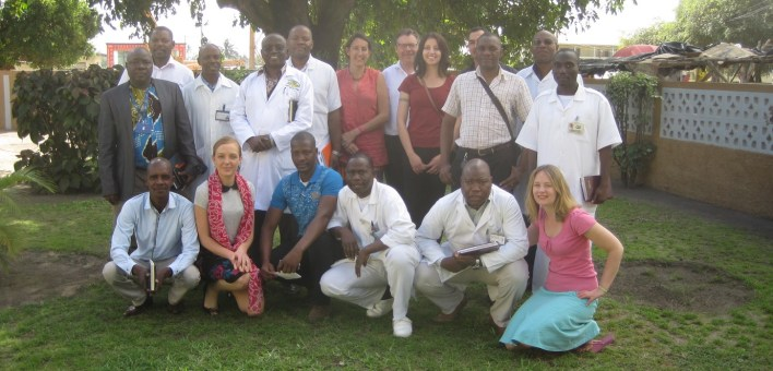 Colleagues from Ipswich Hospital and Central Hospital, Beira, in 2016.