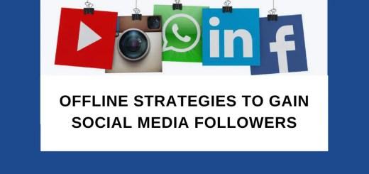gain social media followers offline