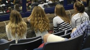 Students listen to Jodee Blanco