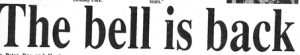 Headline from 1996