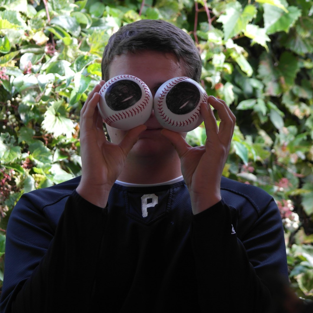 Griffin Parrill showing the relative eye size of a bird (Photo Credits: Chelsea Fisher)