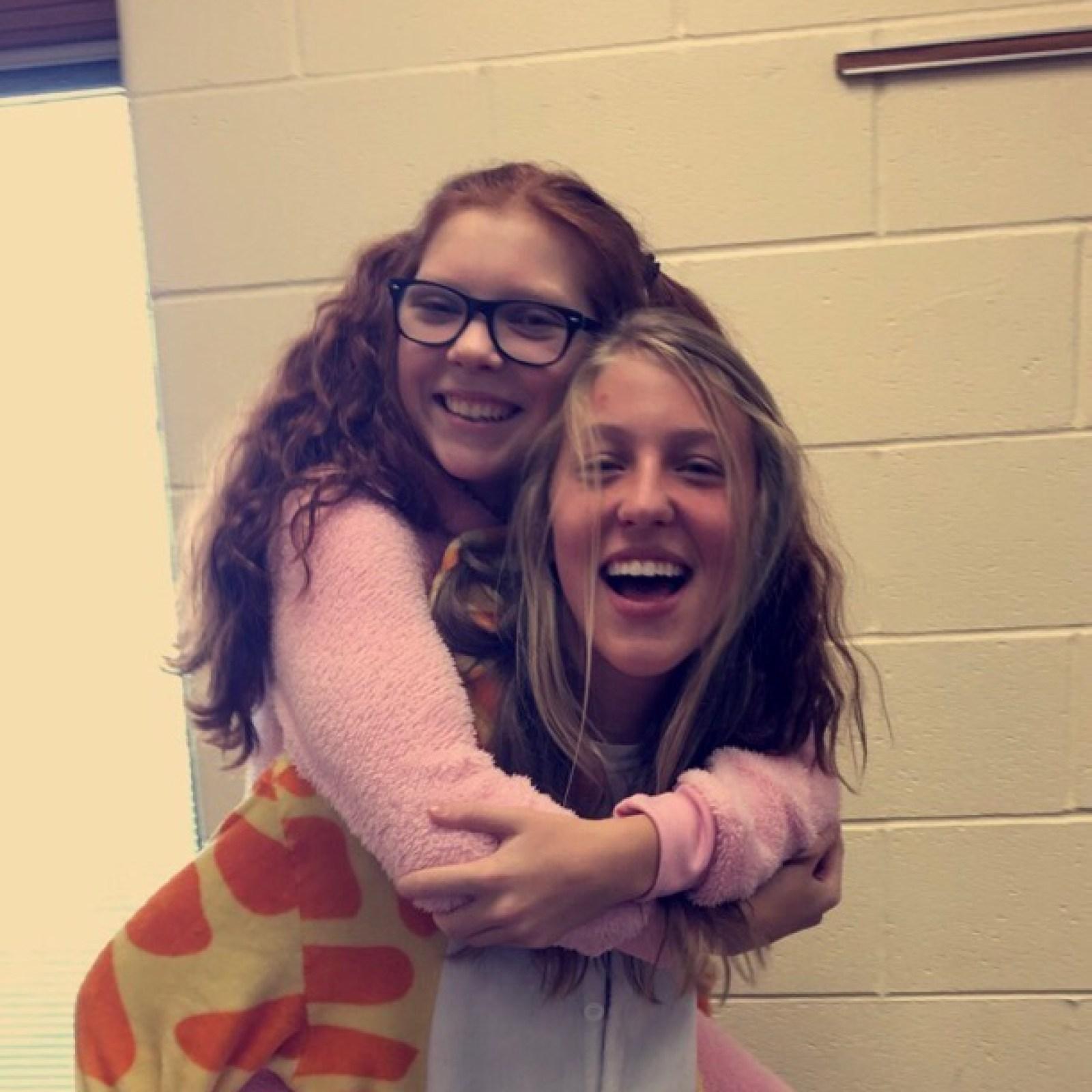 Freshman Courtney Besancon, Paige Robertson (Picture Credits to Freshman Carly Marquis)