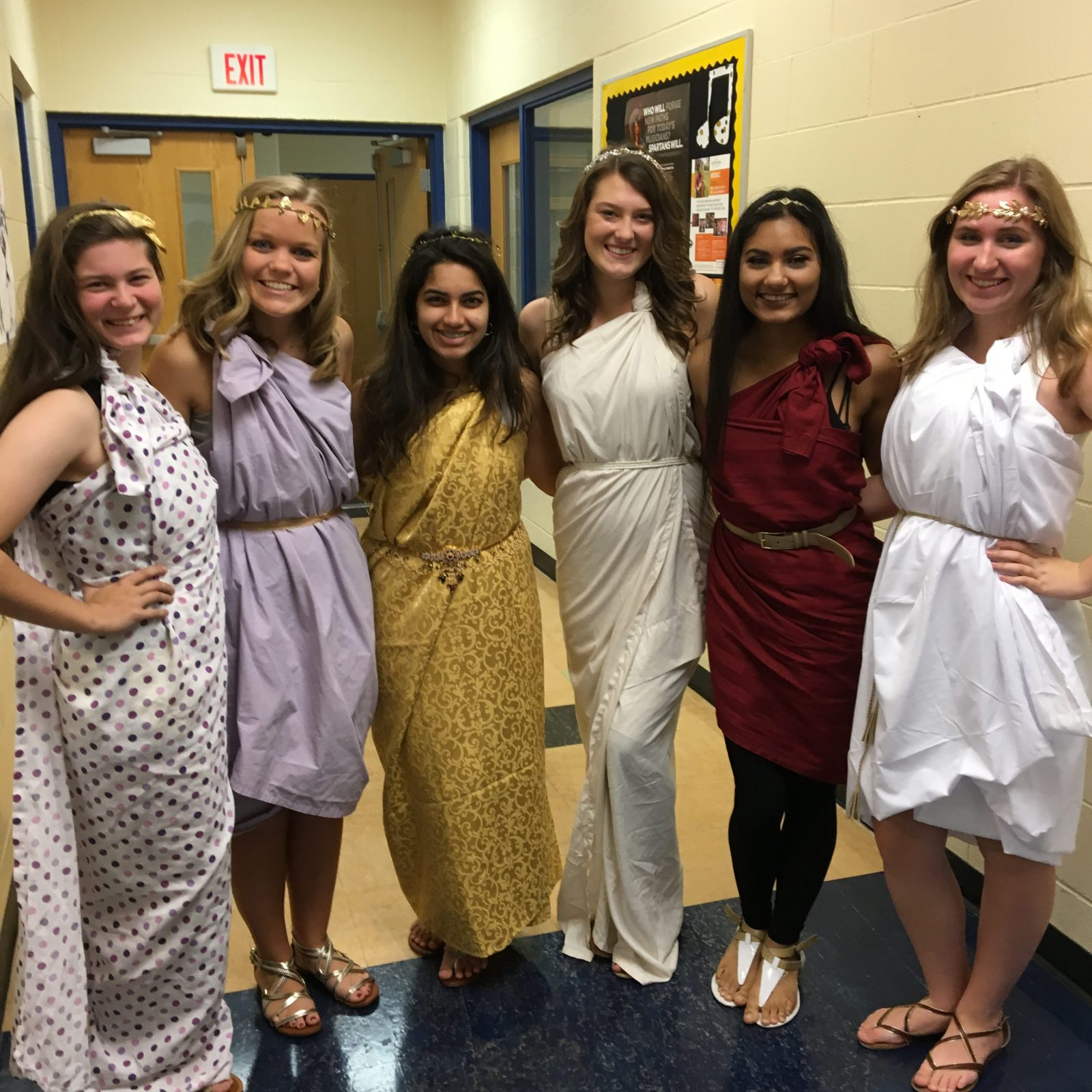 Seniors (Left to Right) Sophie Walcher, Abbey Cook, Sharvari Brahme, Grace Deraad, Eishat Ahmed, Kelsey Bartalsky
