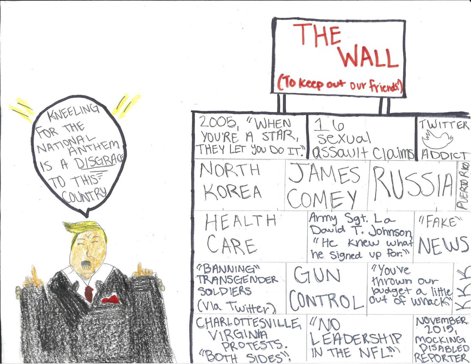 "Editorial Cartoon: ""The Wall"""