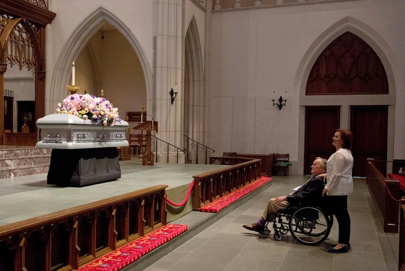 Former First Lady, Barbara Bush, Laid to Rest