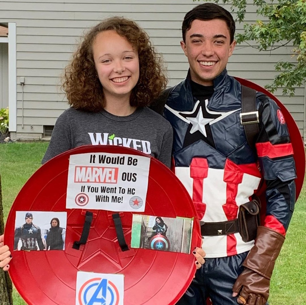 """It would be MARVEL-ous if you went to HC with me!"""