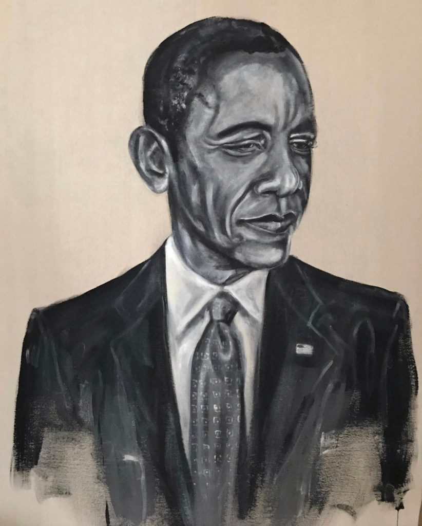 President Obama Portrait by Robert Vanivelt from Black History Month