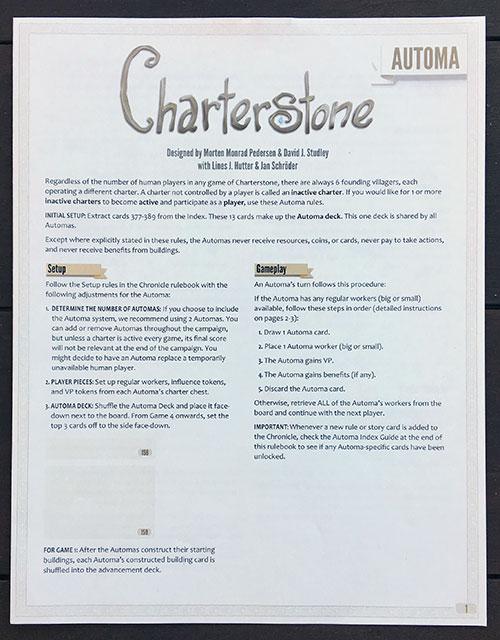 Charterstone Automa Book