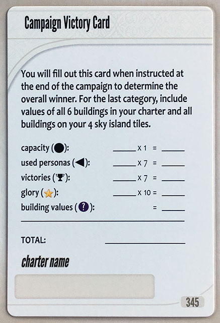 Charterstone Card 345