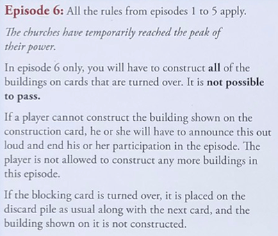 My City Rules for Episode 6